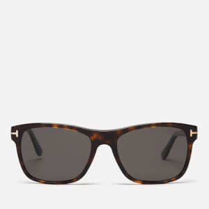 Tom Ford Men's Guilio Sunglasses - Dark Havana/Smoke Polarized
