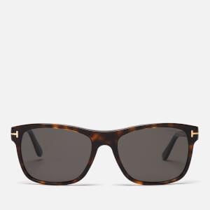 Tom Ford Men's Guilio Sunglasses - Dark Havana/Smoke Polarized