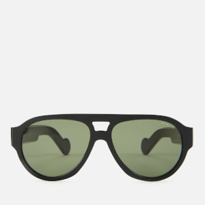 Moncler Men's Acetate Sunglasses - Shiny Black/Green