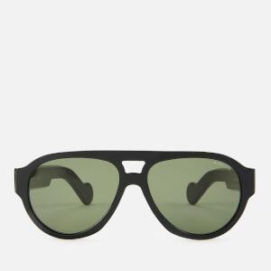 Moncler Men's Acetate Sunglasses - Shiny Black/Green