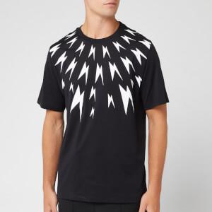 Neil Barrett Men's Meteorites Fairisle T-Shirt - Black/White
