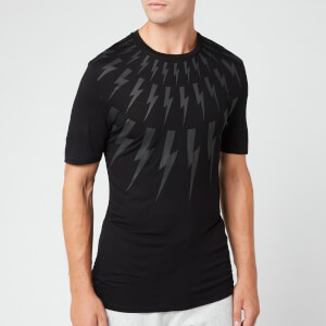 Neil Barrett Men's Fairisle Thunderbolt T-Shirt - Black/White