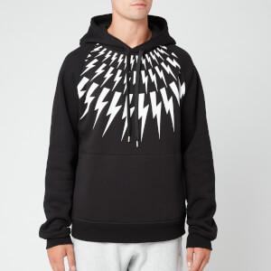 Neil Barrett Men's Fairisle Thunderbolt Beefy Sweatshirt - Black