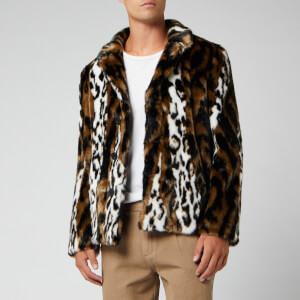 Neil Barrett Men's Abstract Fur Jacket - Animal