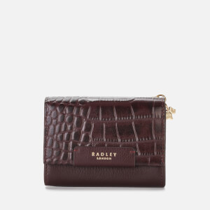 Radley Women's Arlington Court Faux Croc Medium Flapover Purse - Oxblood