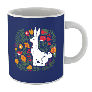 Scandi Rabbit Pattern Mug