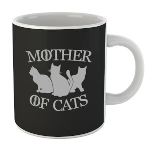 Mother Of Cats Black Tee Mug