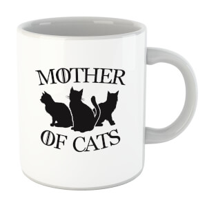 Mother Of Cats White Tee Mug