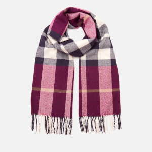 Joules Women's Bracken Check Scarf - Dark Green Check