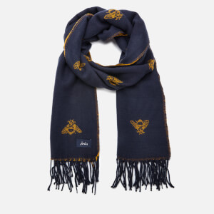 Joules Women's Mardale Reversible Bees Scarf - Navy