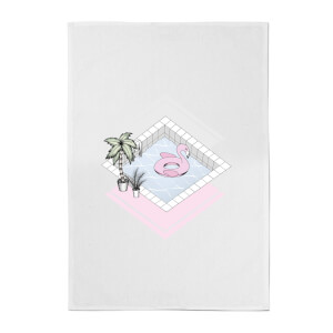 Flamingos Paradise Cotton Tea Towel