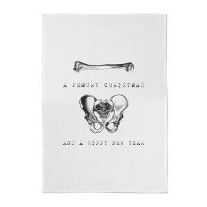 A Femury Christmas And A Hippy New Year Cotton Tea Towel