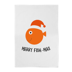 Merry Fish-Mas Cotton Tea Towel