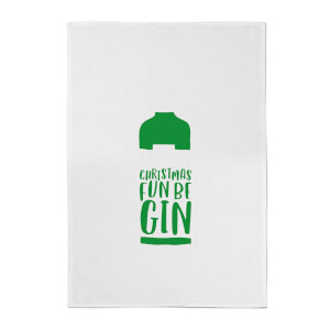 Let The Christmas Fun Be Gin Cotton Tea Towel