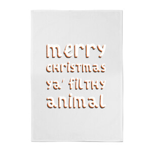 Merry Christmas Ya' Filthy Animal Cotton Tea Towel