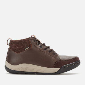 Clarks Men's Ashcombe Mid GTX Leather/Warmlined Hiking Style Boots - Dark Brown