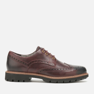 Clarks Men's Batcombe Wing Leather Brogues - Burgundy