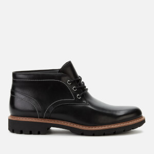 Clarks Men's Batcombe Lo Leather Chukka Boots - Black
