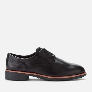 Clarks Women's Griffin Lane Leather Derby Shoes - Black