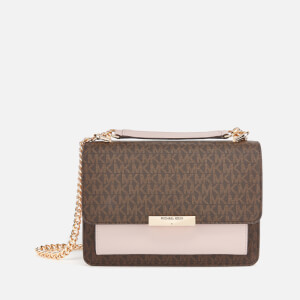 MICHAEL MICHAEL KORS Women's Jade Large Gusset Shoulder Bag - Brown/Soft Pink