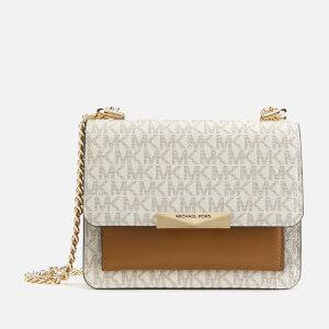 MICHAEL MICHAEL KORS Women's Jade Xtra Small Gusset Cross Body Bag - Vanilla/Acorn