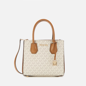 MICHAEL MICHAEL KORS Women's Mercer Medium Acordian Messenger Bag - Vanilla