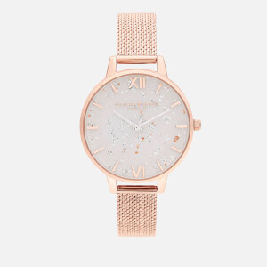 Olivia Burton Women's Celestial Boucle Mesh Watch - Rose Gold