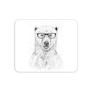 Polar Bear And Glasses Mouse Mat