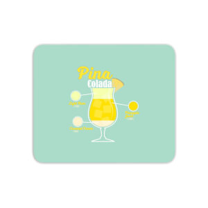 Infographic Pinacolada Mouse Mat