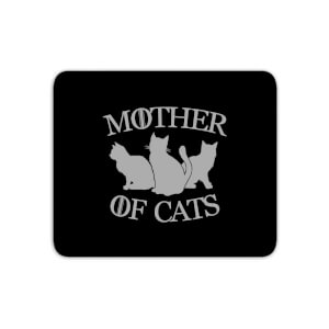 Mother Of Cats Black Tee Mouse Mat