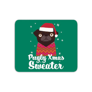Pugly Xmas Sweater Mouse Mat