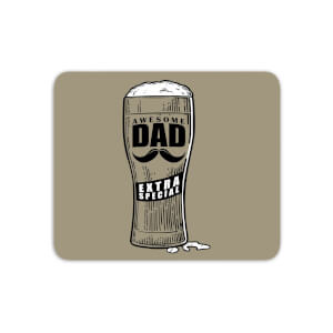 Awesome Dad Beer Glass Mouse Mat