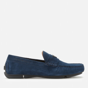 Emporio Armani Men's Suede Driving Shoes - Midnight