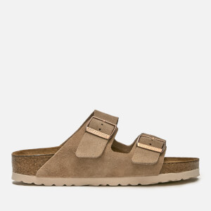 Birkenstock Women's Arizona Slim Fit Suede Double Strap Sandals - Nude