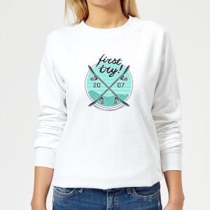 Braille Skateboarding Limited Edition First Try Women's Sweatshirt - White