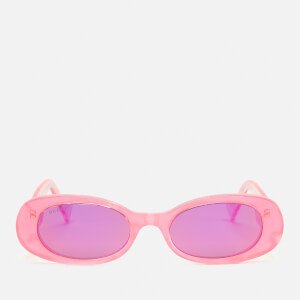 Gucci Women's Oval Frame Acetate Sunglasses - Pink