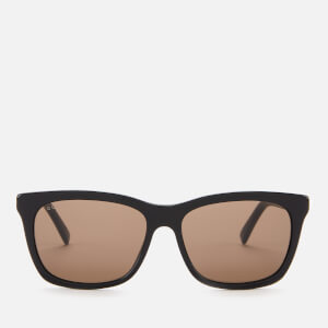 Gucci Men's Rectangle Frame Acetate Sunglasses - Black/Gold/Brown