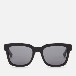 Gucci Men's Square Frame Sunglasses - Black/Smoke