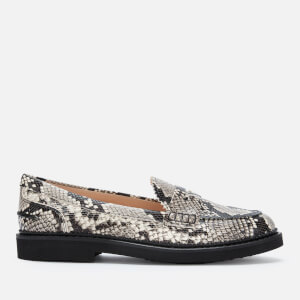 Tod's Women's Python Print Loafers - Rock
