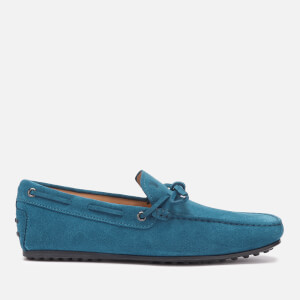 Tod's Men's Suede City Gommino Driving Shoes - Blue