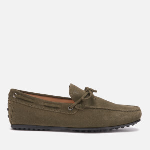 Tod's Men's Suede City Gommino Driving Shoes - Forest