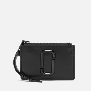 Marc Jacobs Women's Textured Top Zip Multi Wallet - Black