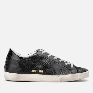 Golden Goose Deluxe Brand Women's Superstar Leather Trainers - Black Snake/Black Star