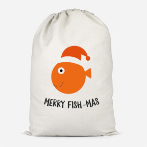 Merry Fish-Mas Cotton Storage Bag