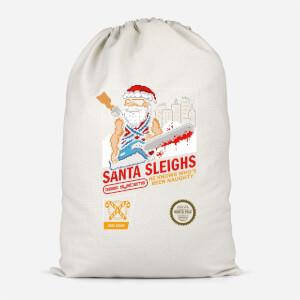 Santa Sleighs Cotton Storage Bag