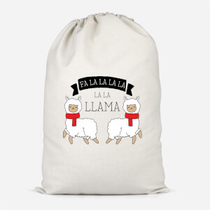 Fa La La La La La Llama Cotton Storage Bag