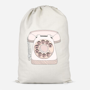 Phone Call Cotton Storage Bag
