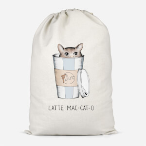 Latte Mac-Cat-O Cotton Storage Bag