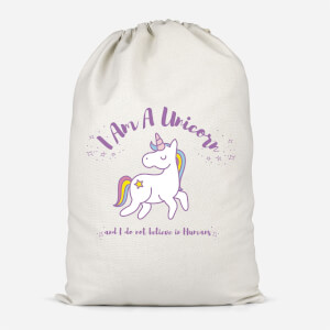 I Am A Unicorn And I Dont Believe In Humans Cotton Storage Bag
