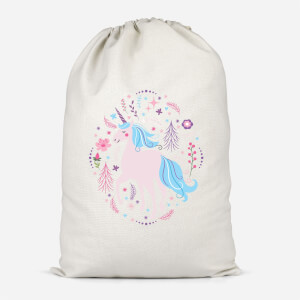 Pink Unicorn Cotton Storage Bag